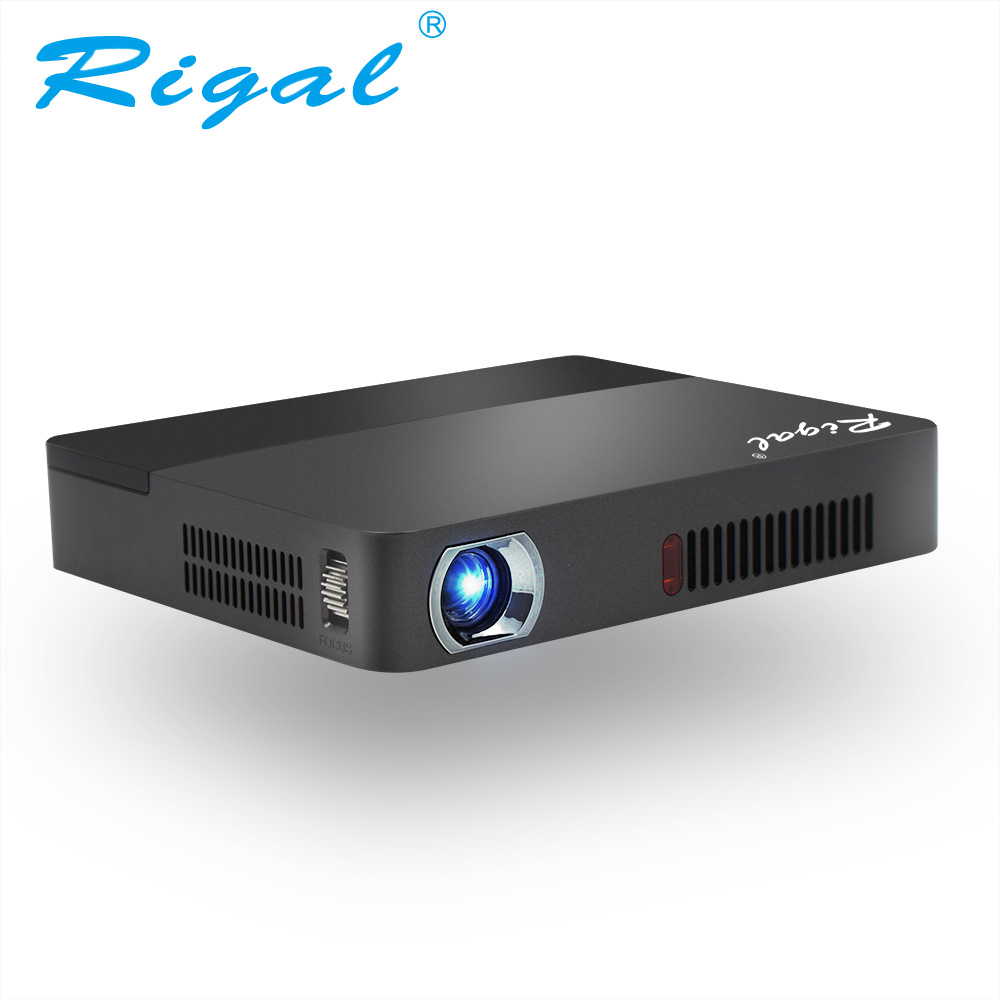 Rigal Projector RD601 10000mAh Battery Android Optional WIFI LED MINI DLP HD Projector 3D Beamer 350