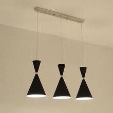 Современный Лофт алюминиевые подвесные светильники приспособление для украшения дома E27 лампа Потолочные Подвесные Светильники