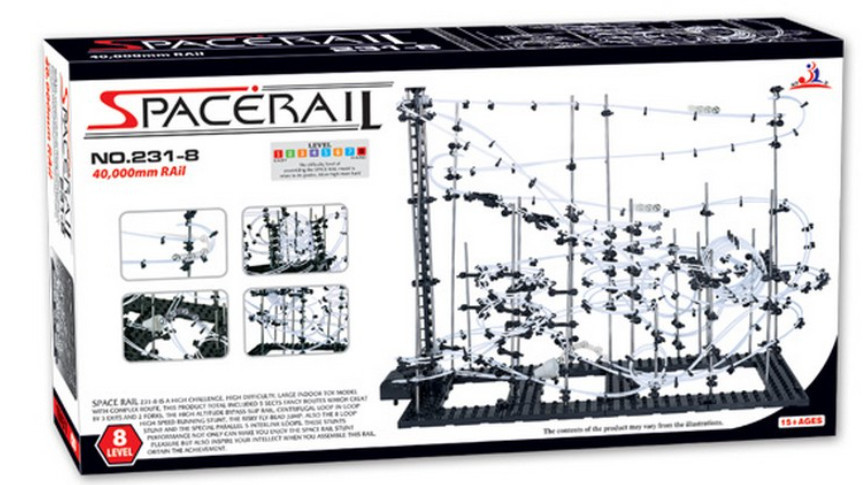 High Quality! New Space Rail Funny Model Building Kit RollerCoaster Toys SpaceRail Level 8, DIY Spacewarp Erector Set 40000mm