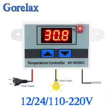 XH-W3001 W3001 Temperature Controller Digital LED 12 24 110-220V Thermometer Thermo Switch Probe Max 10A NTC10K