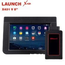 STARTEN X431 V 8 Zoll Bluetooth Wi Fi Volle System Auto Diagnose werkzeug Unterstützung ECU Codierung X 431 V + Mini Auto scanner OBD2 Scanner