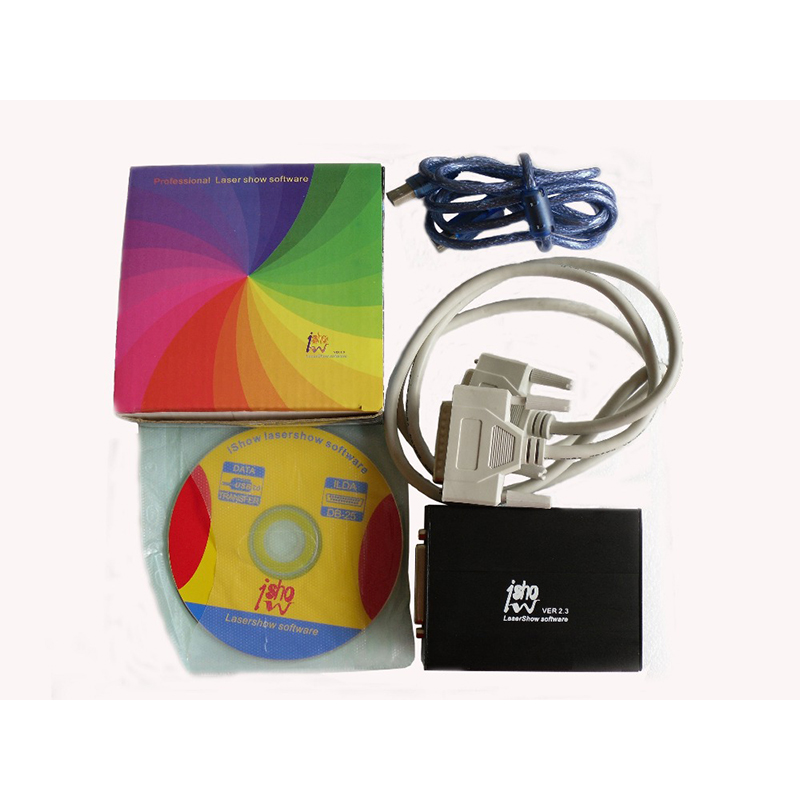 Ishow 2.3 USB 2.0 USB Power Supply ILDA PC Laser Controller Show Software Laser Show Designer IShow Software