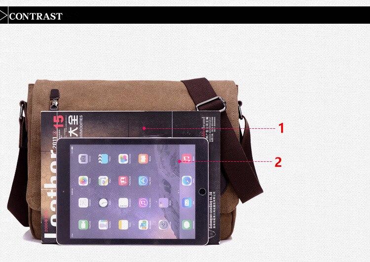HTB1VMn ayLrK1Rjy1zdq6ynnpXaE 2019 Vintage Men's Briefcase Canvas Men Messenger bag Classic Designer Shoulder Bags Pocket Casual Business Laptop Travel bags
