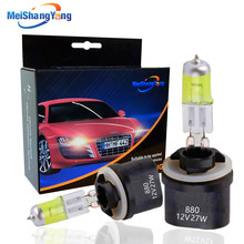 2PCS 881 894 H27 Halogen Bulbs 27W fog lamps light 12V Car Light Yellow Amber alpine pdx v9