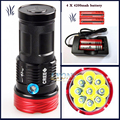 18000 lumens SKYRAY King 9 x  XM-L T6 LED Flashlight Torch Lamp Light For Hunting Camping+4 pcs 18650 battery+charger