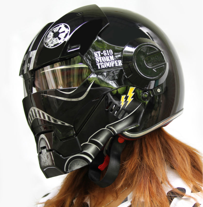 New Black Star Wars Masei Ironman Iron Man Helmet Motorcycle Helmet
