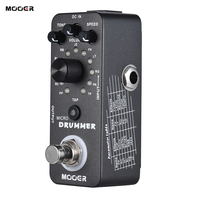 MOOER MICRO DRUMMER Guitar Pedal Digital Drum Machine Guitar Effect Pedal Tap Tempo Function True Bypass Full Metal Shell