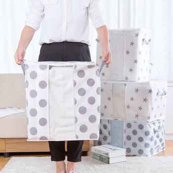 Foldable Storage Bag Clothes Blanket Quilt Closet Sweater Organizer Box Pouche Large Capacity Home Organizers Storage Bag