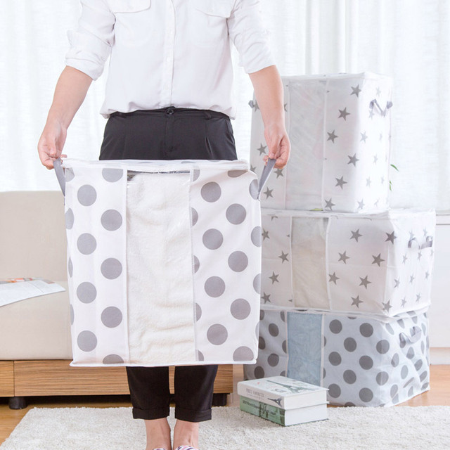 Foldable Storage Bag Clothes Blanket Quilt Closet Sweater Organizer Box Pouche Large Capacity Home Organizers Storage Bag