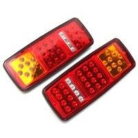 1 Pair 33 LED Stop Brake Rear Tail Light Indicator Reverse Lamp 12V For Trailer