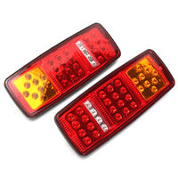 1 Pair 33 LED Stop Brake Rear Tail Light Indicator Reverse Lamp 12V For Trailer