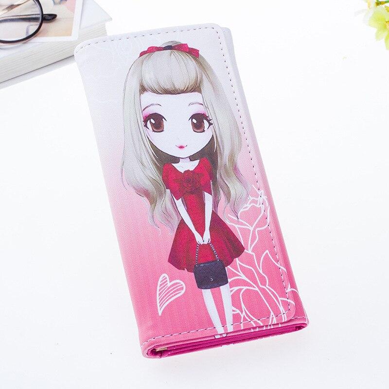 SUQI Women Wallet Purse Koren College Wind Wallet young Girl student Cartoon Wallet sweet coin purse cared holder