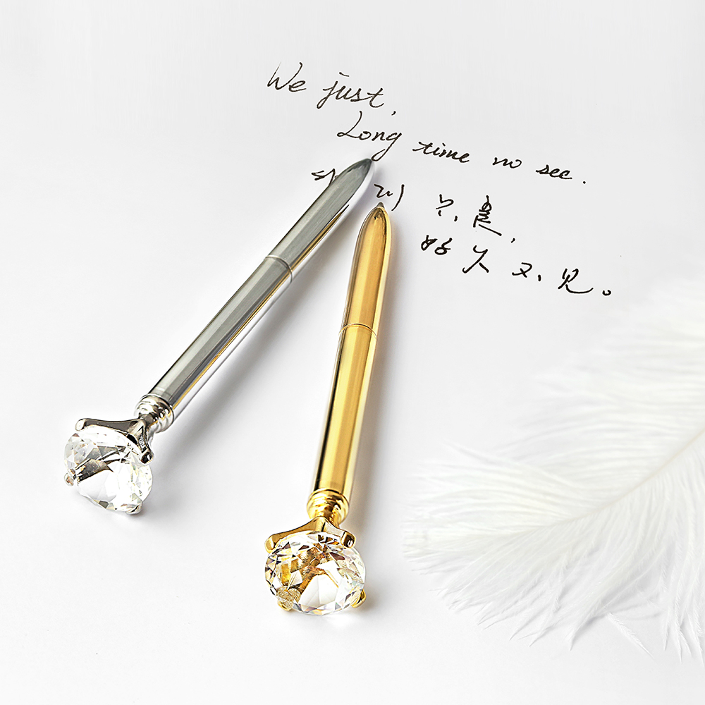 TUTU Diamond rotating Metal ballpoint Pen Rose Gold Plating Ballpoint Pen luxury pen Black Ink Stationery Ballpen H0202 cy u2 001 90 degree left angle mini usb 5 pin male to usb 2 0 male charging and data transfer cable for mobile phone