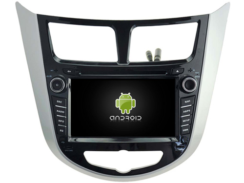 Android 7 1 font b CAR b font DVD player FOR HYUNDAI VERNA ACCENT SOLARIS 2011
