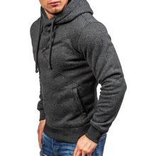 2018 Spring & Autumn Fashion Casual Hooded Jogger Solid Sweatshirt Hip Hop Mens Brand