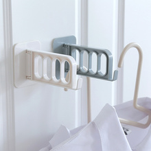 1Pc Wall-mounted Multi-purpose Rotatable Sticker Hanger Hooks with 4 Cells Shelves for Wall Bathroom Accessories Home Organizer