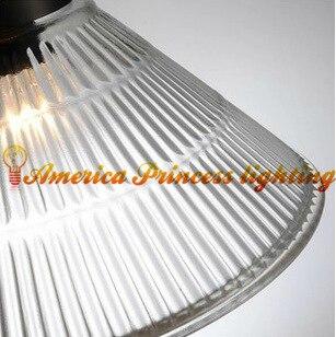 American retro nostalgia pulley lift glass chandelier restaurant study lamp light, material iron, E27, AC110 240V - 4