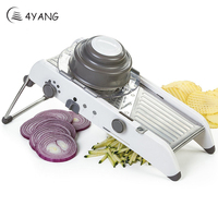 4YANG Adjustable Mandoline Slicer Professional Grater with 304 Stainless Steel Blades Vegetable Cutter Kitchen Accessories