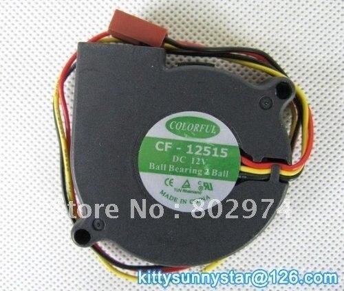COLORFUL 5015 CF-12515 12V Ball Bearing Fan,DC Blower Fan,Cooling Fan