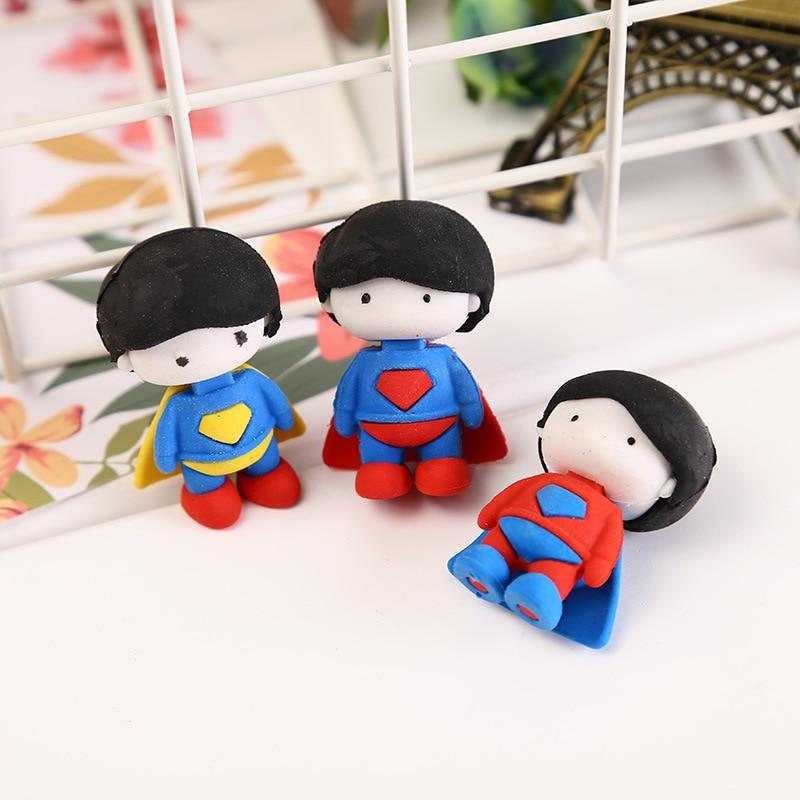 4 Pcs Creative Diy Cartoon Cute Eraser Dismountable Children's Toy Rubber Learning Stationery Wholesale School Supplies Kawaii