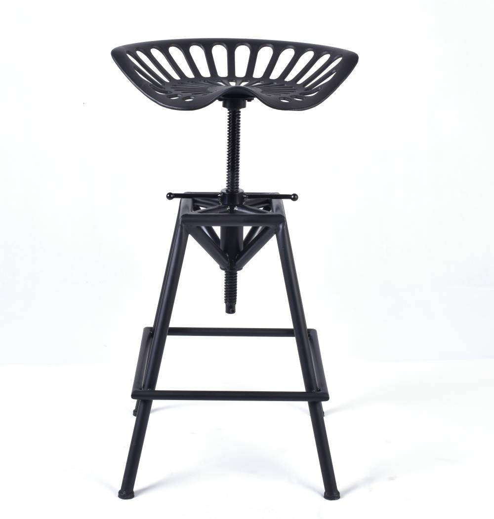 Industrial Style Metal Kitchen Dining Chairs Stool Vintage Copper Adjustable Colton Tracot Seat Stool