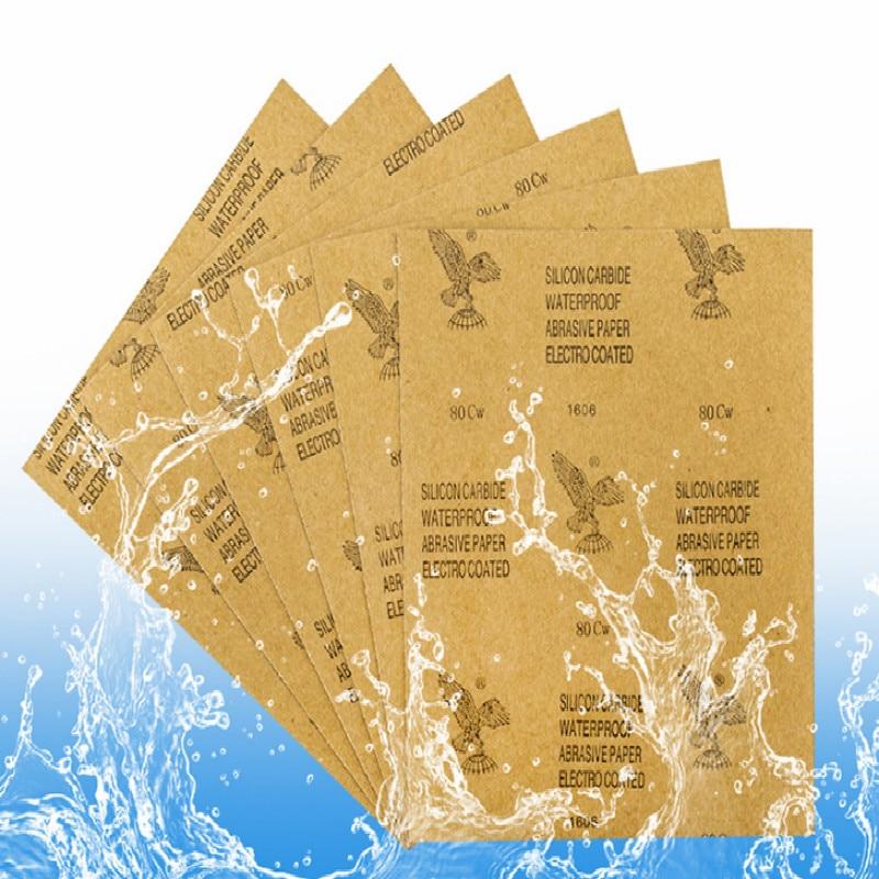 woodworking painter sand paper micro retifica sandpaper 100 120 150 180 240 320 400 600 800 1000 1200 1500 2000 mesh 50pcs/lot