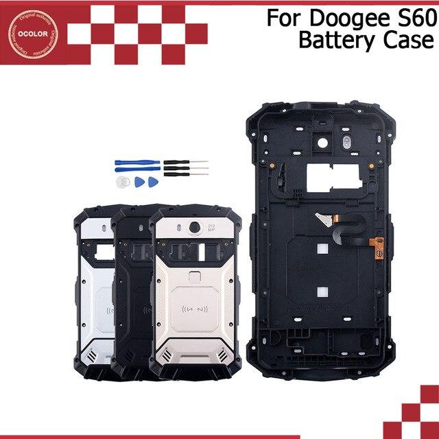 "Ocolor doogee S60バッテリーカバーbateria保護バックカバー交換5.2 ""doogee S60 liteツール + カメラフレーム"