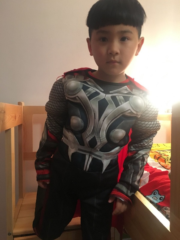 Kids birthday party fantasia fancy dress Rushed The Avengers Thor Classic Muscle Children boys Halloween carnival movie Costumes
