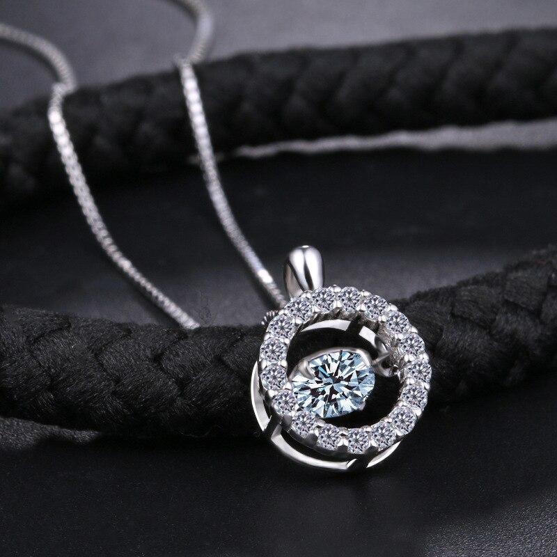 Collar de plata 925 cristalino de la manera europea colgantes - Joyas - foto 4