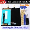 Alta qualidade display lcd + digitador da tela de toque do painel de vidro para lenovo k3 note k50 k50-t5 1920*1080 celular cor preto