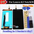 High Quality LCD Display + Touch Screen Digitizer glass panel For Lenovo K3 Note K50 K50-T5 1920*1080 Cellphone Black Color