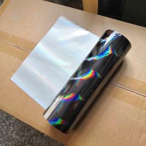 Image 2 - ホットスタンプ箔ホログラム箔黒斜光ビームパターンホットプレスに紙やプラスチック転写箔