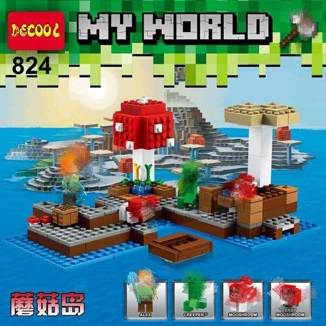 Decool 824 252pcs Model building set 21129 18023 Minecrafted Steve ...