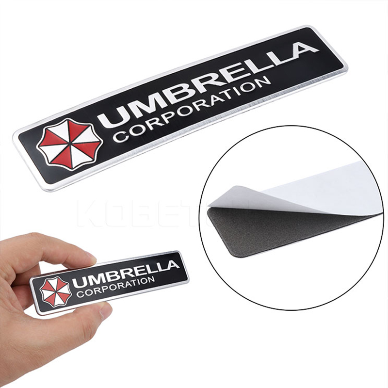 Us 117 Sikeo 3d Umbrella Corporation Aluminum Car Sticker Resident Evil Decals Motorcycle Car Sticker For Bmw Vw Ford Car Styling In Car Stickers