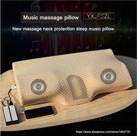 YXJFSZL Yeni Ürün Akıllı Teşvik Uyku bellek köpük yastık ile Polyester/Pamuk kapak, bellek köpük boyun yastık müzik