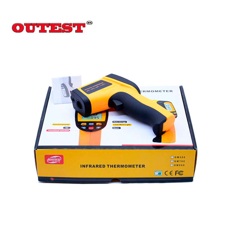 Non-Contact Precise Digital IR Laser Infrared Pointer Thermometer GM900 -50degree to 950 Degree Gun With carry box  цена