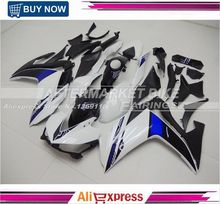 2014 2015 2016 YZF R3 R25 ABS Injection Fairing Kit For Yamaha YZFR3 YZFR25 Pearl White Complete Fairings Body Kit Cowling