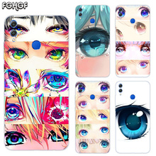 Charming Beautiful Eyes Frosted Fundas Soft TPU Print Case For Huawei Honor V20 8X 7 8 9 10 lite 7X 8A V9 Play Cover