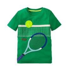 MUQGEW Tennis Printing Summer T-Shirts Baby Boys Girls Cartoon Short Sleeve Casual Clothes Children O-Neck Cotton Tops 2018(China)