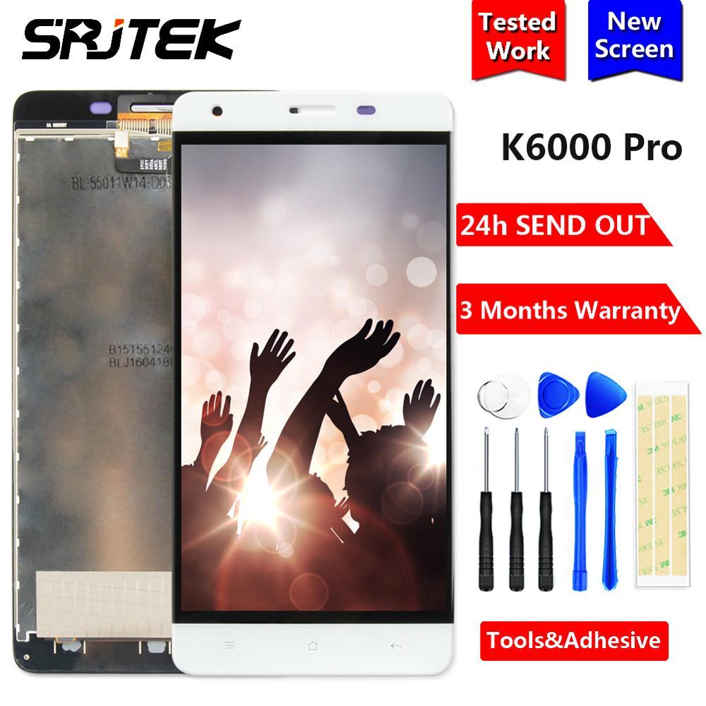 Srjtek For Oukitel K6000 pro LCD Display Matrix + Touch Screen Digitizer Full Assembly 5.5'' 1920x1080 For Oukitel K6000 pro