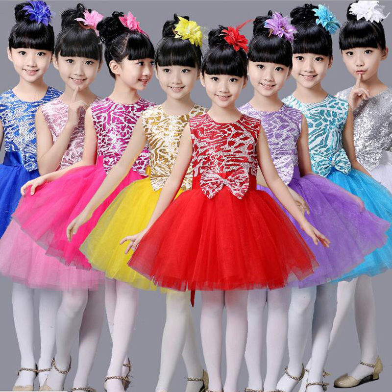 Kids Modern Ballet Dancewear Outfits  Girls Hip Hop Party Ballroom Dancewear Costumes Dress Ballroom Stage Clothing For Children