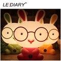 LEDIARY Мода Кролик Настольная Лампа E14 Сменным Источником Света Ночник Ребенок Прикроватная Лампа Теплый Белый/Холодный Белый