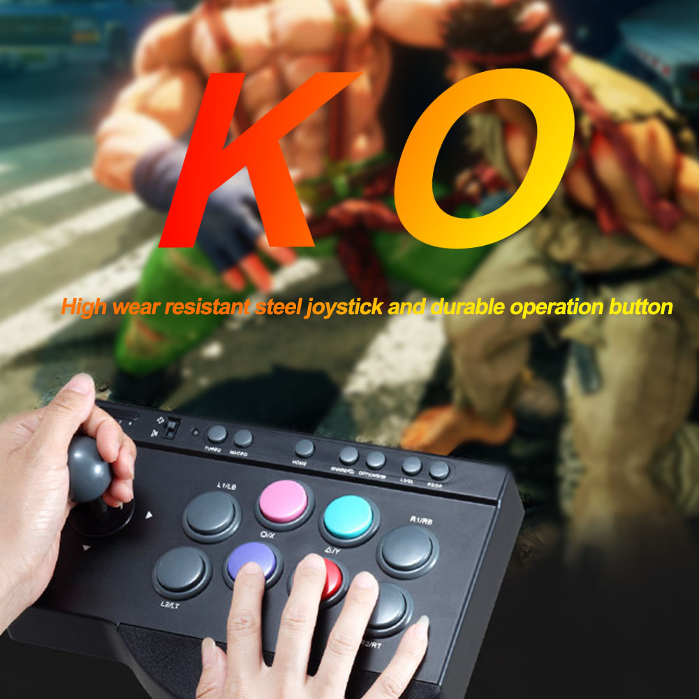 For Arcade Fighting Joystick Game Controller Useful Replacement USB Wired ABS Multifunction Button PC For PS3/4 For XBOX ONE