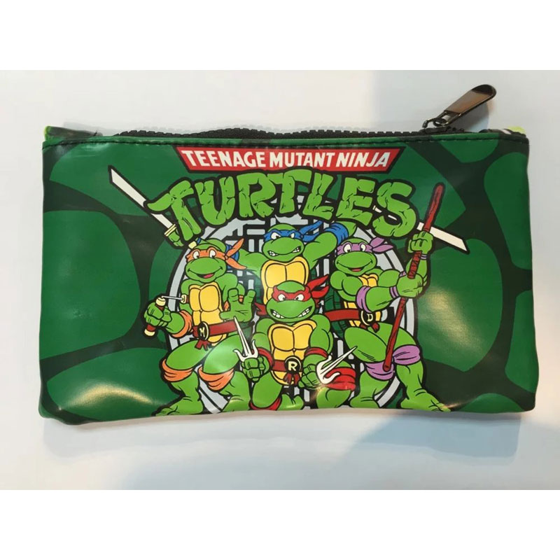 Teenage Mutant Ninja Turtles Purse Pen Pencil Bag Wallet Carteras Mujer Men Women Anime Cartoon Cute Stationery Leather Wallet