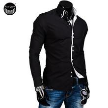 Мужская рубашка 2017 /slim Fit XXL