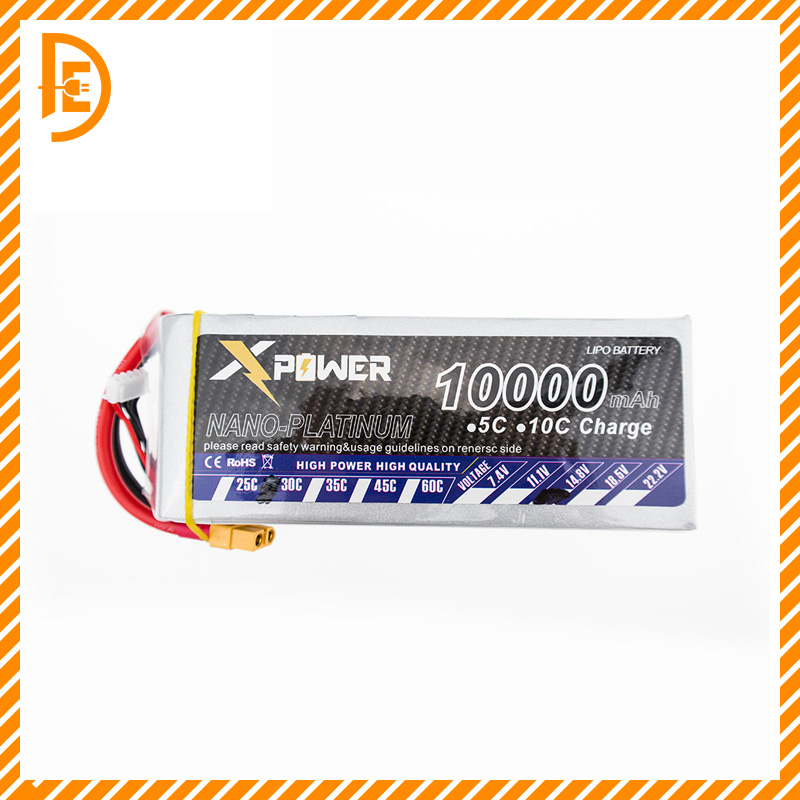 1 PCS 14.8 V 4S 10000mAh 30C Max 35C Xpower XT60 T EC5 plug Lipo Battery For RC Drone Helicopter Airplane parts все цены