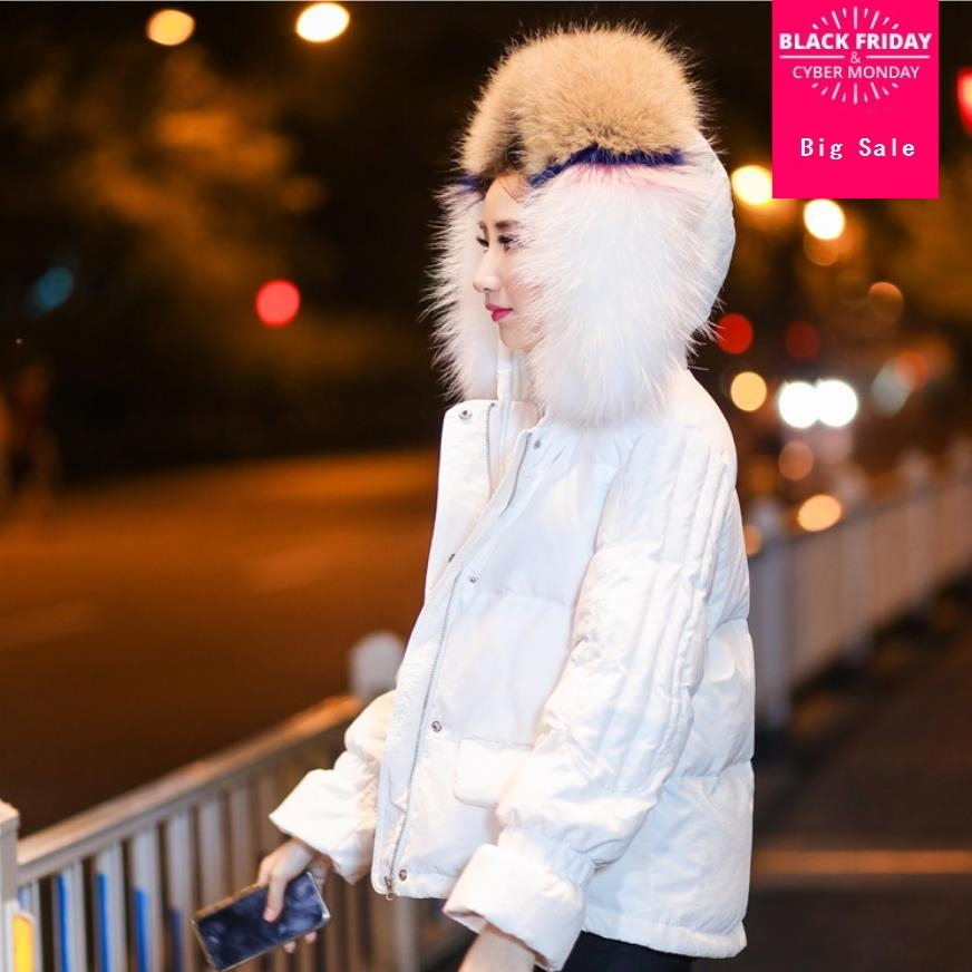 Winter real colorful natural fur duck   down     coat   female luxurious big natural fur hooded thicker warm   down     coats   wq473 dropship