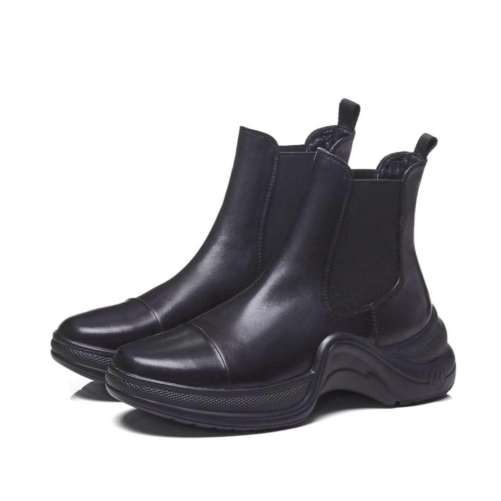 Krazing Pentola 2019 pieno fiore stivali di pelle di marca di stile occidentale design slip on di colore solido superstar tenere al caldo della caviglia stivali l1f2-in Stivaletti da Scarpe su  Gruppo 3