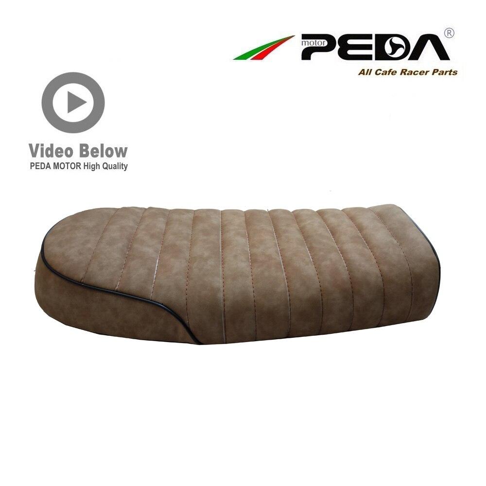 A13 PEDA Cafe racer BRAT seat 53cm BROWN for HONDA YAMAHA universal Motorcycle Flat Vintage Saddle Asiento Sitz Sattel Retro