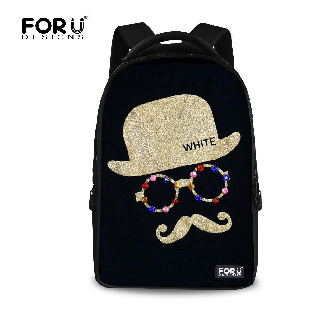 ФОТО Big Capacity Mustache Backpack for Teenager Girls Casual 17inch Women Laptop Backpack Casual Travel Rucksack Mochila
